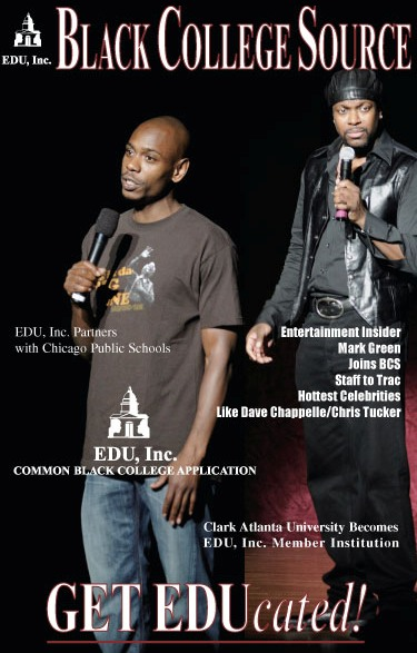 EDU, Inc. Black College Source Magazine with Chris Tucker and Dave Chappell on the cover.